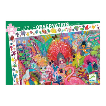 Djeco Puzzle Observation - Rio Carnaval 200pc 6+