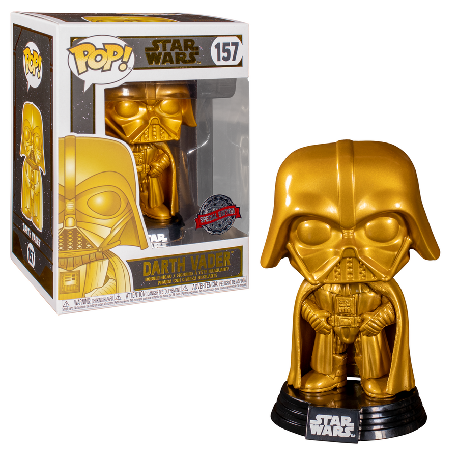 Star Wars - Darth Vader Gold Chrome US Exclusive Pop! Vinyl [RS] No. 157