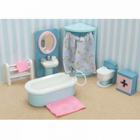 Le Toy Van Daisylane Bathroom Wooden Furniture Set