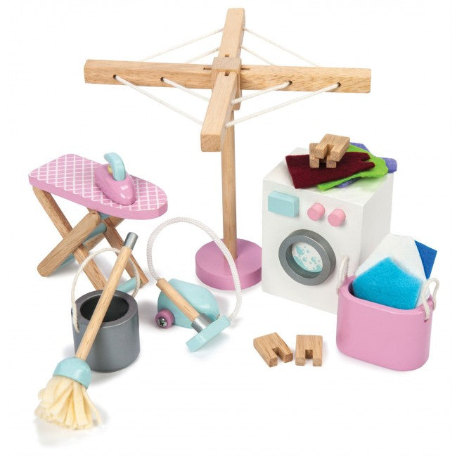 Le Toy Van Daisylane Laundry Room Wooden Furniture Set