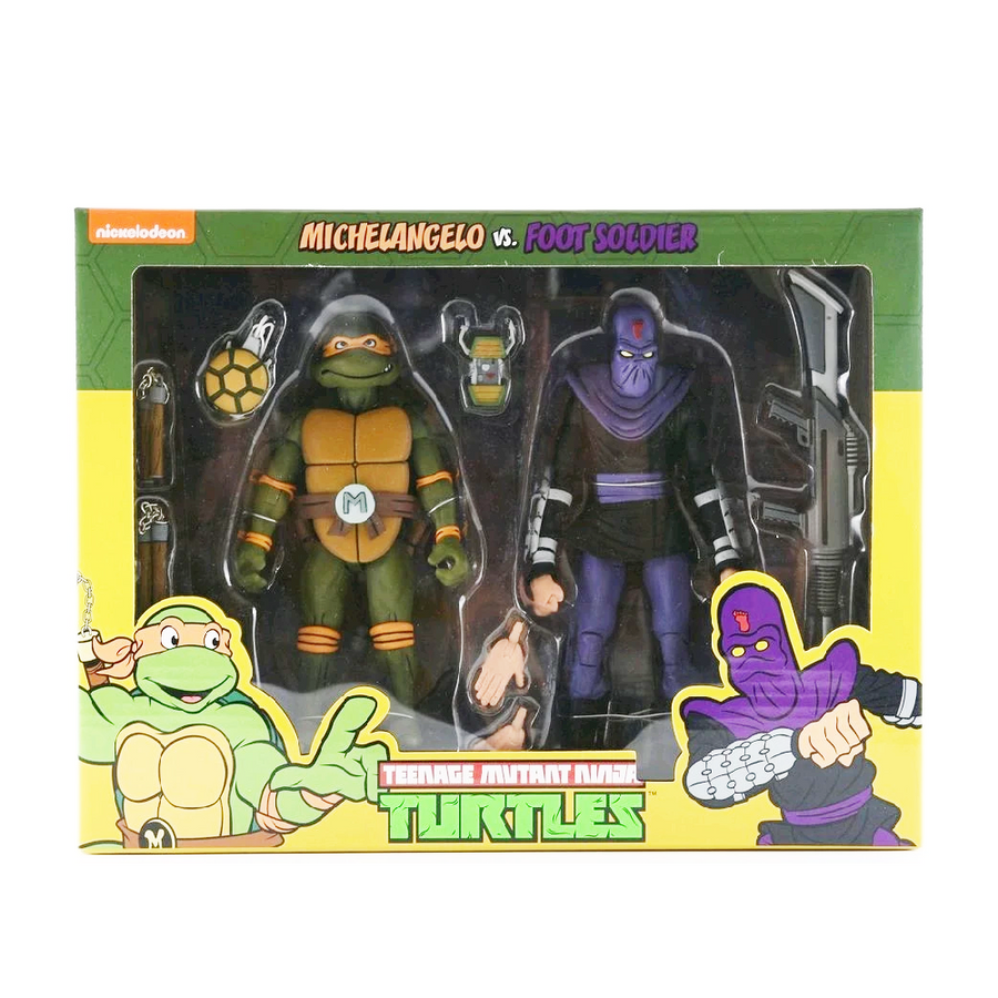TMNT - Michelangelo vs Foot Soldier Figure 2pk