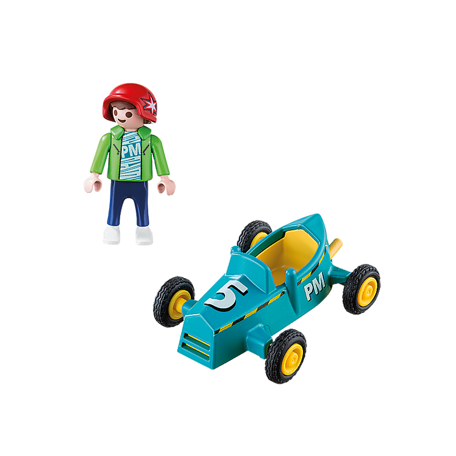 Playmobil - Boy with Go-Kart Figure