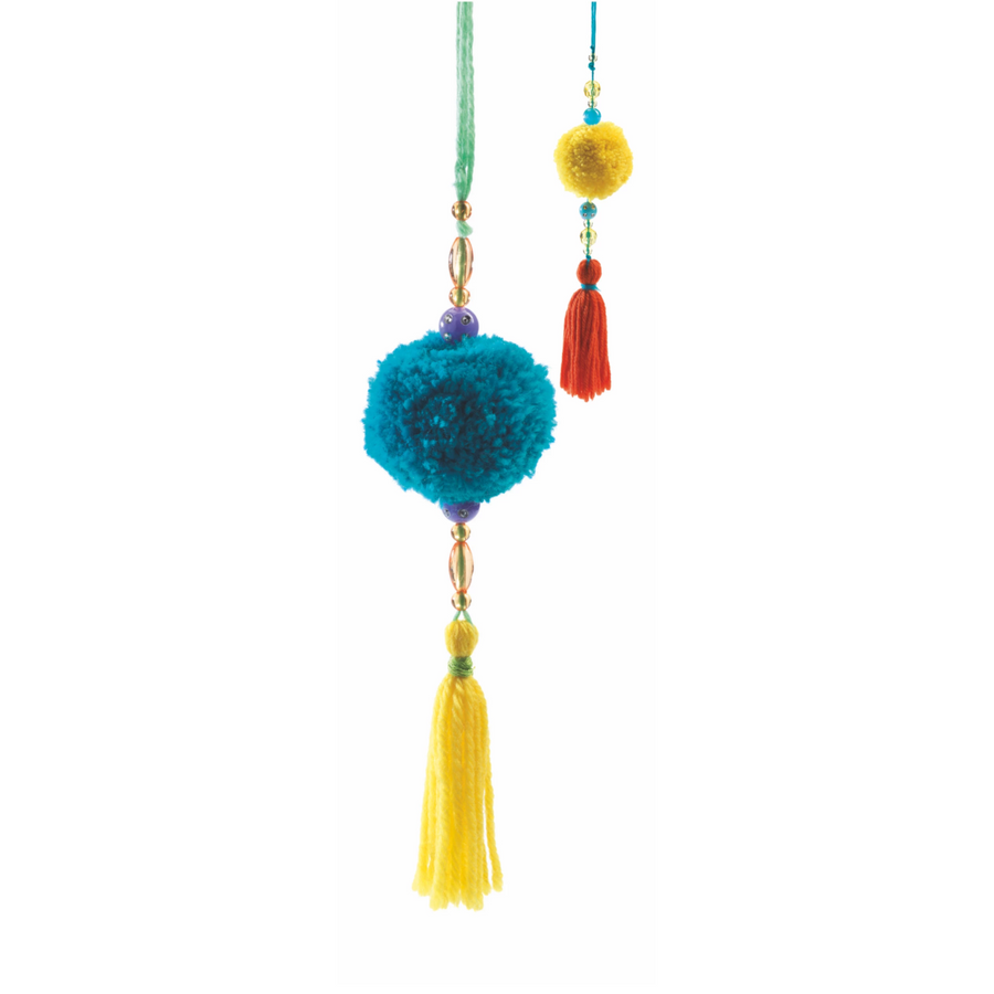 Djeco - Beads Pompoms Wool Craft