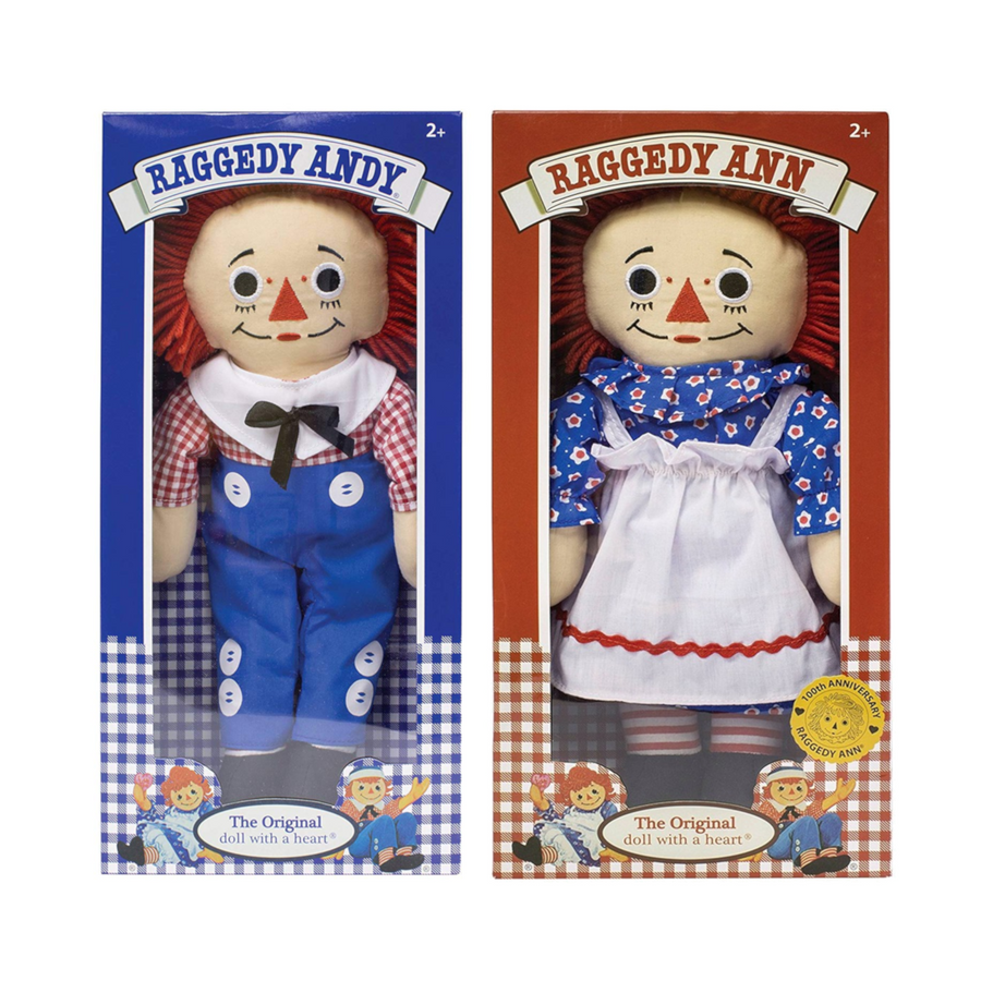 100th Anniversary Raggedy Ann and Andy (set of 2)