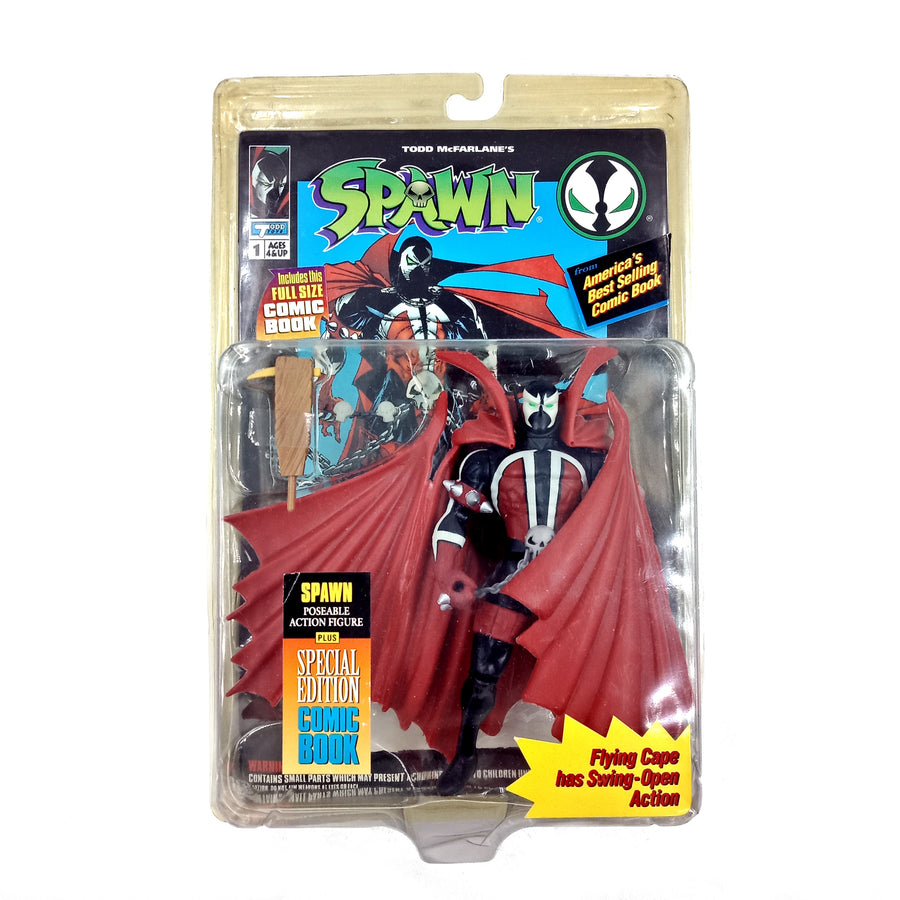 Spawn poseable figure with Comic Book (1994)