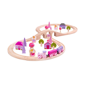 Bigjigs - Fairy Town Wooden Train Set