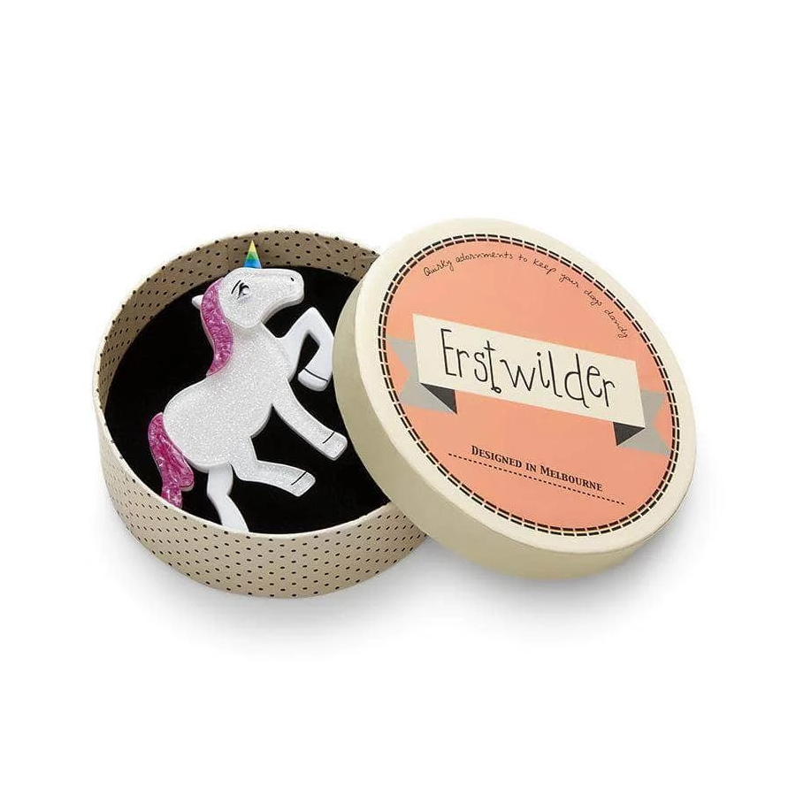 Erstwilder - Ula the Unicorn Brooch