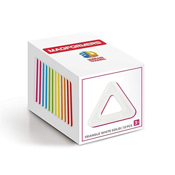 Magformers Triangles Solid White/Colour 12 Pcs