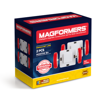 Magformers - Single Wheel Set 2pc - Red