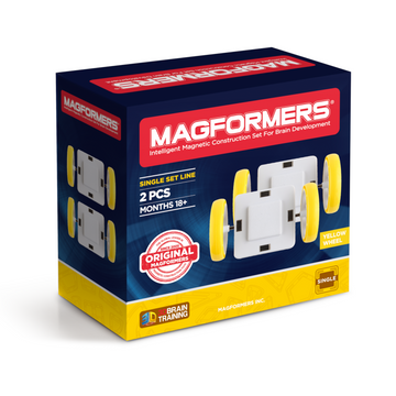 Magformers - Single Wheel Set 2pc - Yellow