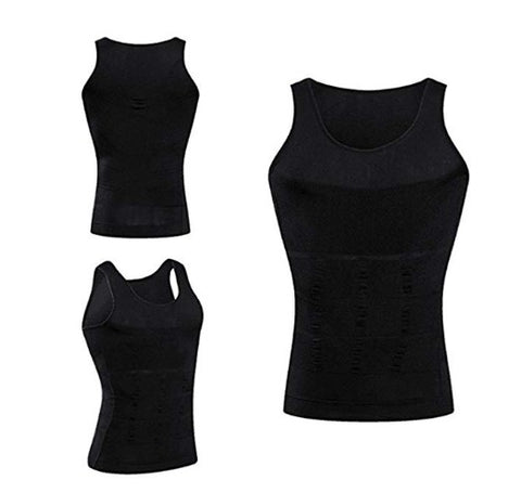 24319784e98ad Men Compression Shirt - Slimming Body Shaper Tank Top - Gynecomastia  Compression Shirt