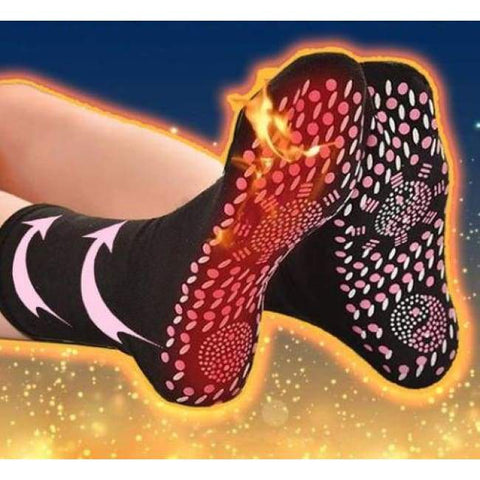 Self-Heating Tourmaline Magnetic Therapy Socks