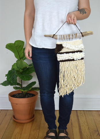 Small Woven Wall Hanging in Neutral
