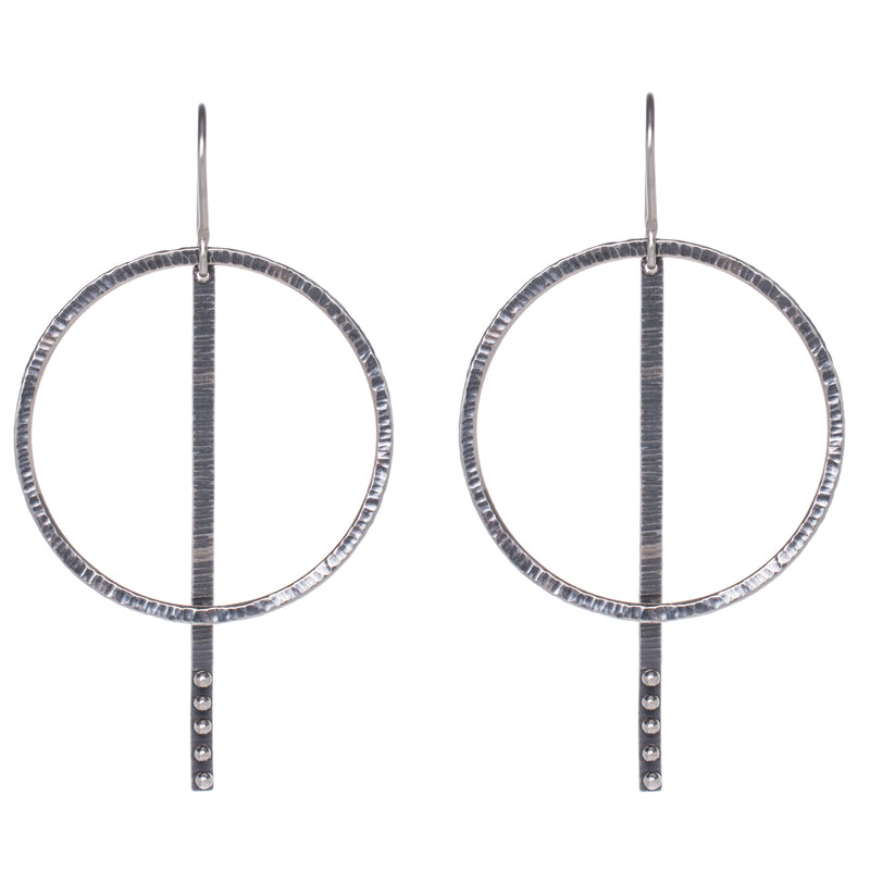 Simple Orbit Stick Earring