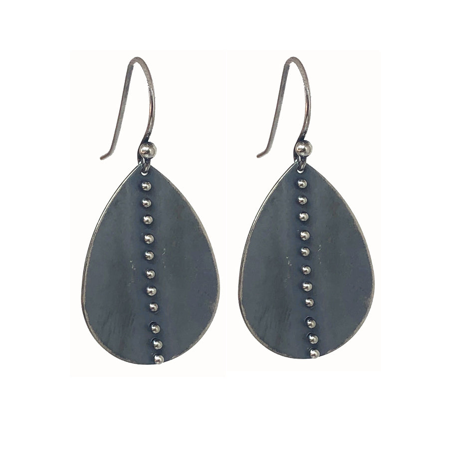 Linear Dot Leaf Earrings