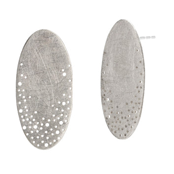 Oval Scattered Dot Studs