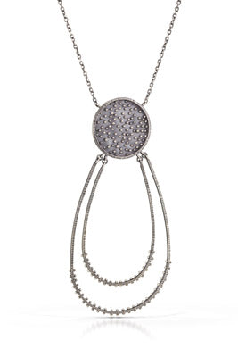 Double Crescent Dots Necklace