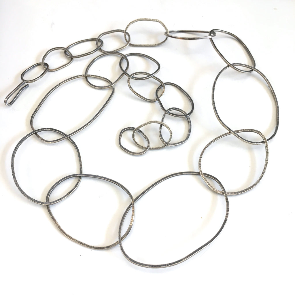Oval Textured Handmade Chain