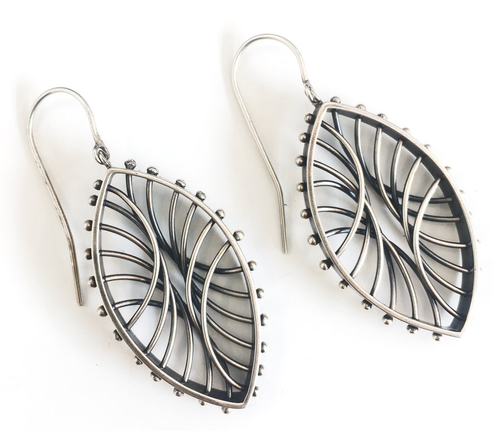 Oval Arc Earrings