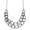 Oval Two-Tone Handmade Chain Necklace