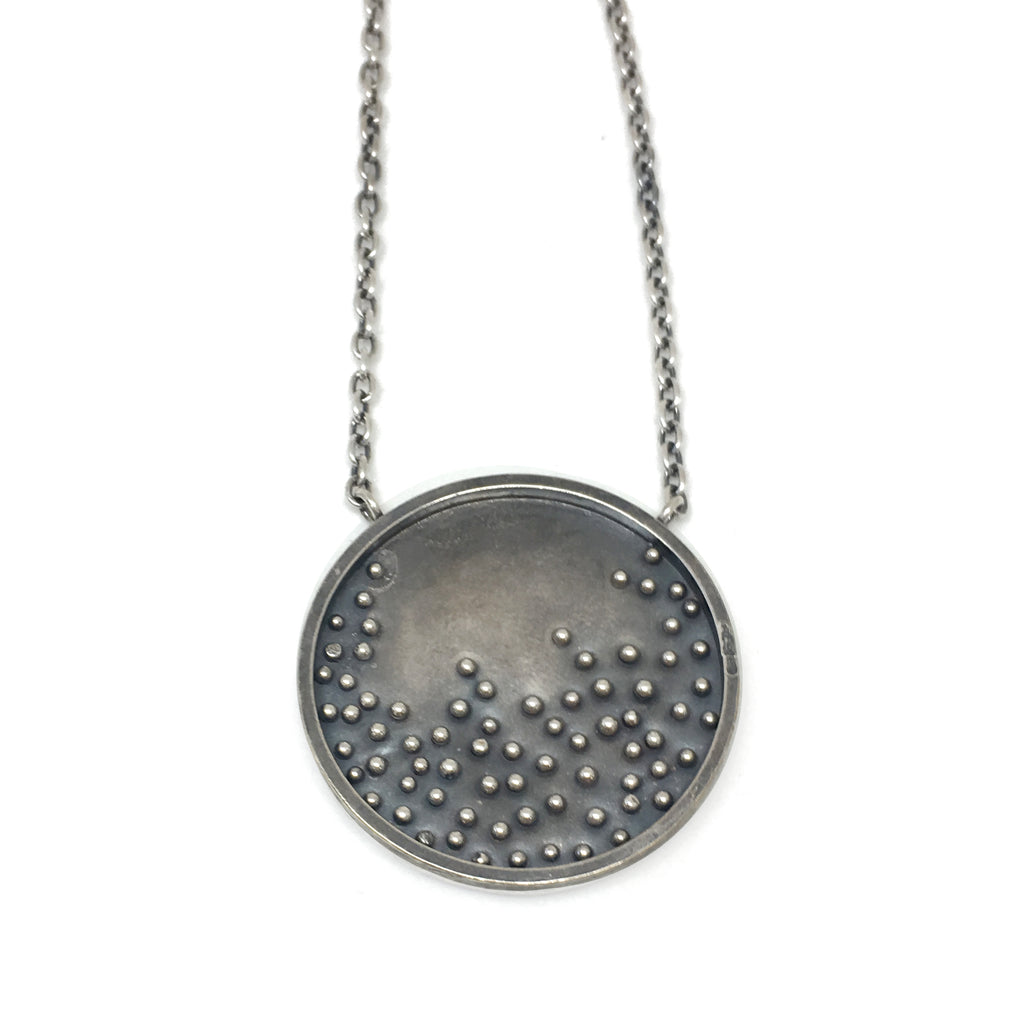 Scattered Dot Moon Necklace