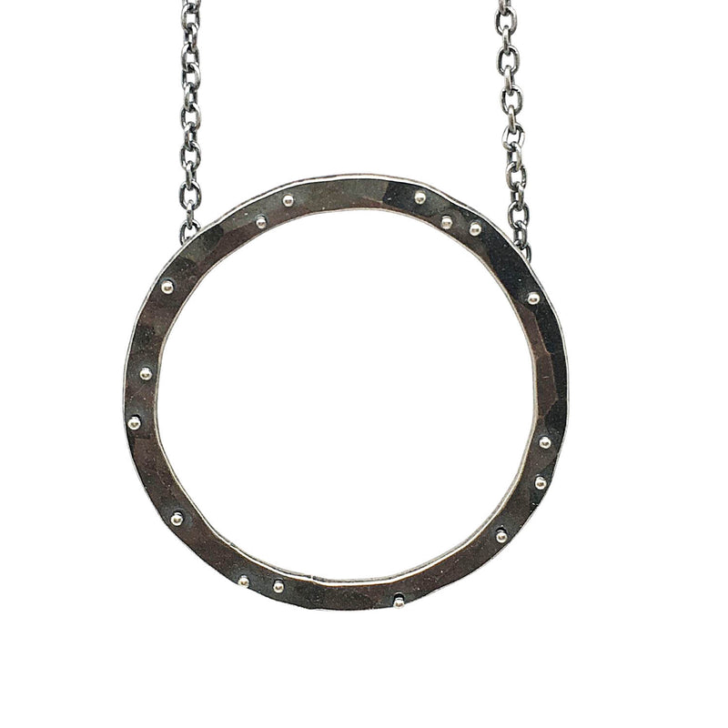 Scattered Dot Planished Necklace