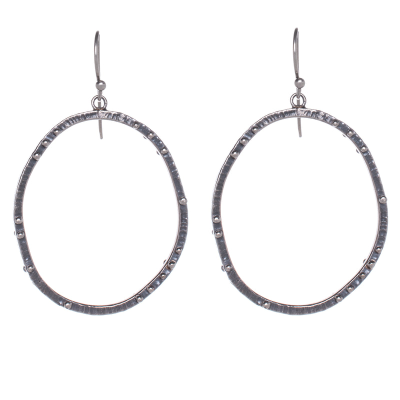 Oval Scattered Dot Earrings