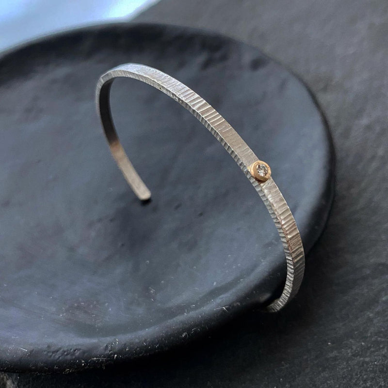 Linear Textured Diamond Cuff
