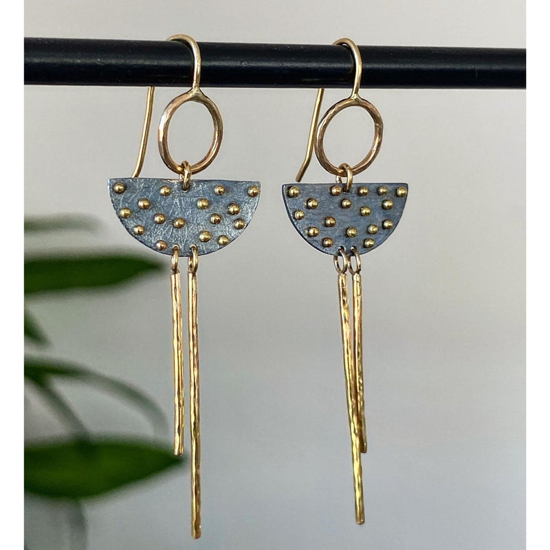 Half Moon Stick Earrings