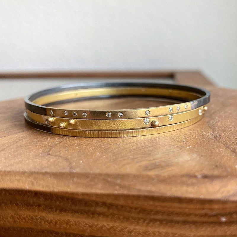 Two-Tone Textured Bangle