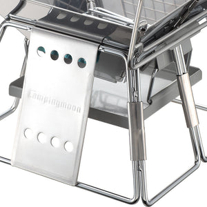 Portable Steel Folding Barbecue Grill