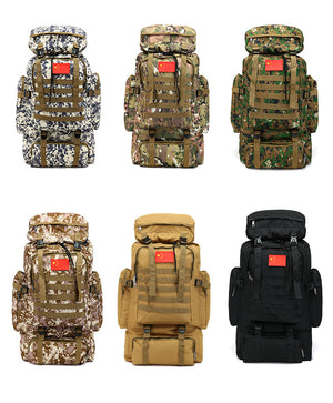 70L Army Camouflage Hiking Bagpack