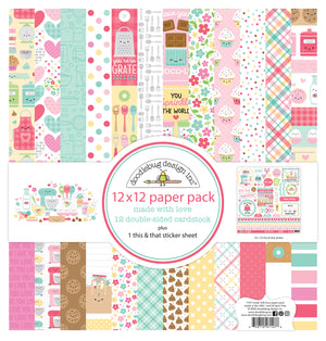 Doodlebug Made With Love 12x12 Paper Pack Collection