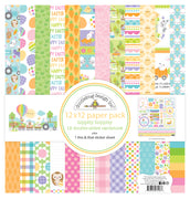 Doodlebug Hippity Hoppity 12x12 Paper Collection