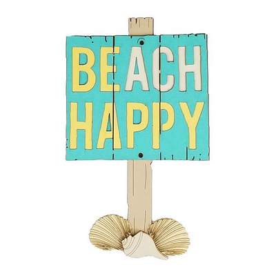 BEACH HAPPY SIGN