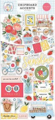 SUMMER 6X13 CHIPBOARD ACCENTS - Carta Bella