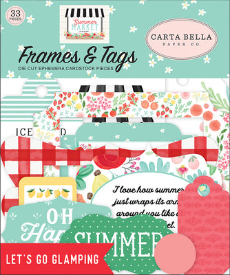 Carta Bella Paper - Summer Market Collection - Frames and Tags