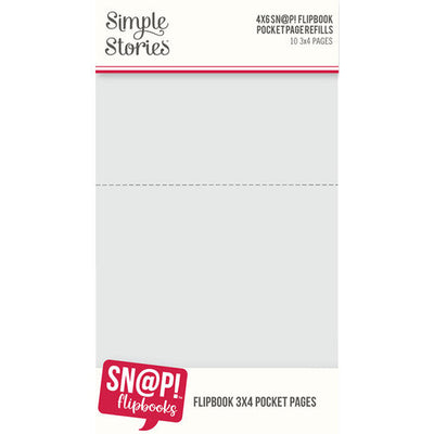 Simple Stories - SNAP Studio - 4 x 6 Flipbook Pages - 3 x 4 Pack Refills