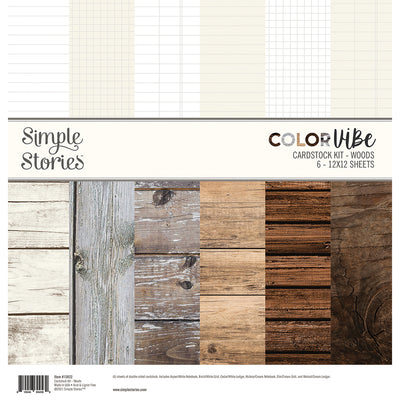 Simple Stories - Color Vibe 12 x 12 Cardstock Kit - Woods