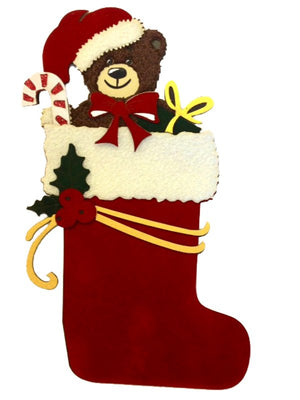 Christmas Bear in Stocking
