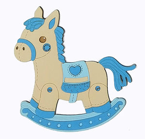 OH BABY! Rocking Horse Blue