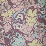 Marvel Pastel Tossed Heads Infinity Scarf - Sometimes Geeky