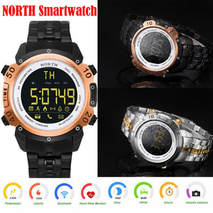 Bluetooth4.0 Smart Watch Stainless Steel Sports Man Running Smartwatch