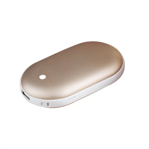 4000mAh USB Rechargeable Electric Hand Warmer Heater Pebbles Double-Side Pocket Warmer Portable Power Bank for iPhone/ Samsung Galaxy