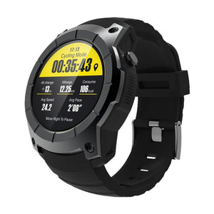 GPS 2G BT Smart Heart Rate Sport Watch-BLACK