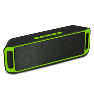 SC208 Bluetooth 4.0 Portable Wireless Speaker TF USB FM Radio Dual Bluetooth Speaker Bass Sound Subwoofer Speakers