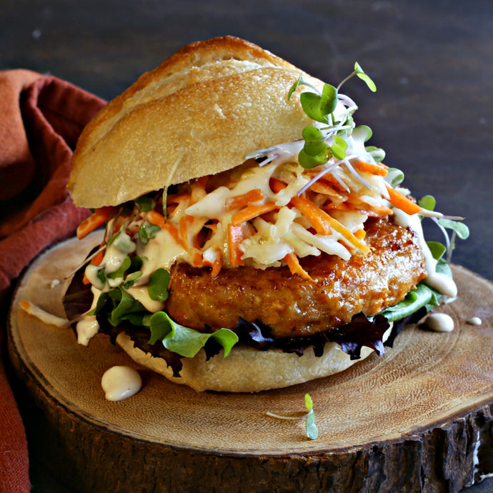 Buffalo Chicken Burger with Slaw