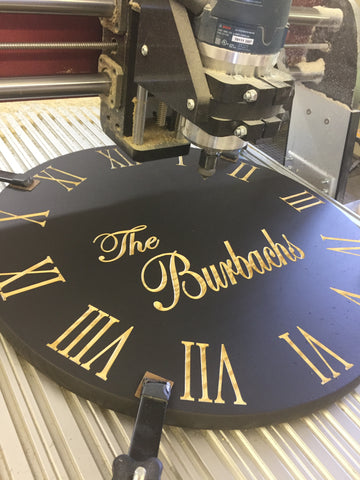Video of carving custom clock with name