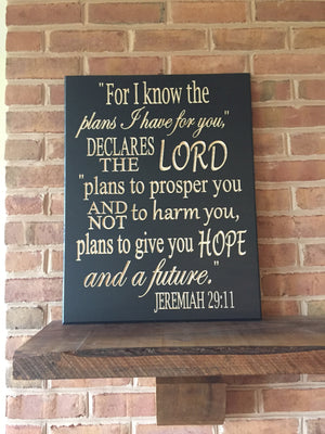 Large Bible verse wall art Jeremiah 29:11