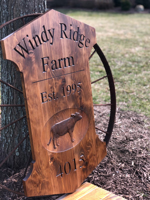 Custom outdoor farm sign